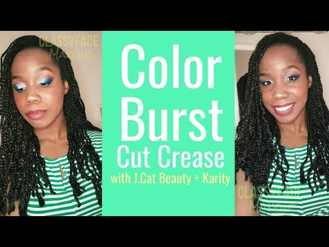 Color Burst Cut Crease! | J.Cat Beauty + Karity! ( FOR HOODED EYES) #glitter #colorfulmakeup