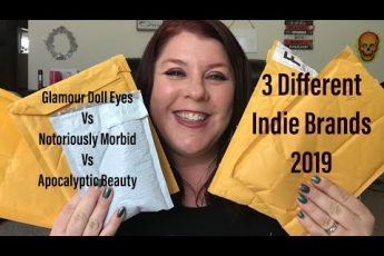 GLAMOUR DOLL EYES vs NOTORIOUSLY MORBID vs APOCALYPTIC BEAUTY// 2019// 3 Indie Makeup Brands