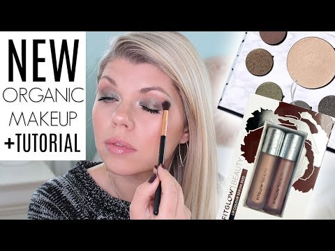 NATURAL ORGANIC MAKEUP TUTORIAL Ft. Fitglow Beauty Glam Palette, & New Lip Serums!
