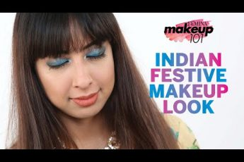 Indian Festive Makeup Tutorial | Glitter Smoky Eye | Indian Festival Makeup Tutorial | Makeup 101