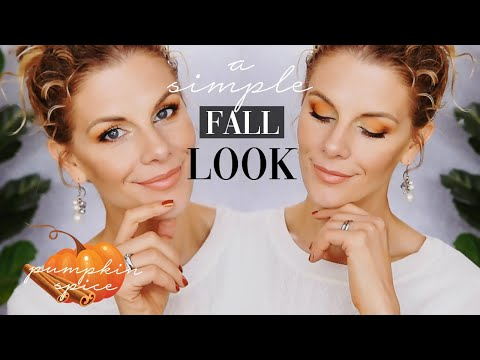 A Simple Fall Makeup Look | Pumpkin Spice Eyes