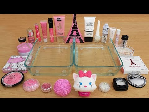 Pink vs White – Mixing Makeup Eyeshadow Into Slime Special Series 214 Satisfying Slime Video