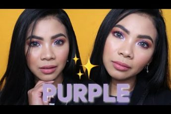 MAKEUP TUTORIAL PINAY SKIN: PURPLE EYES + NUDE LIPS