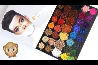 Morphe x James Charles Palette: swatching, destroying & weighing | THE MAKEUP BREAKUP