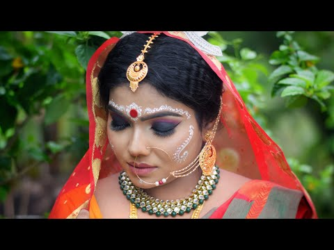 Bengali Bridal Makeover | MAC Full coverage makeup | Black Smokey Eyes | Mua Sneha