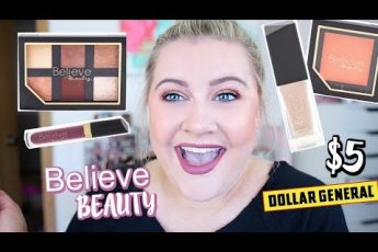 TESTING OUT DOLLAR GENERAL BELIEVE BEAUTY MAKEUP LINE! – EVERYTHING $5 AND UNDER!