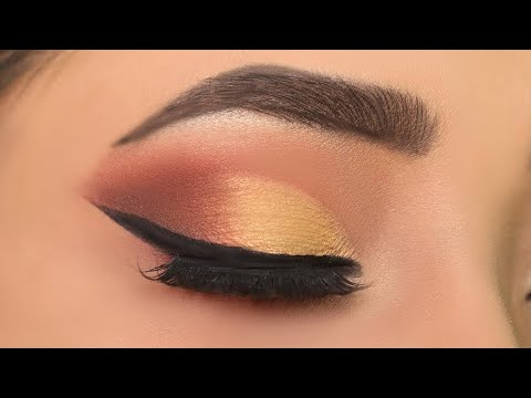 Golden eye makeup for Party / Wedding || Step by step eye makeup for beginners