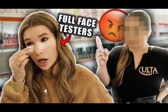 FULL FACE Using ULTA TESTERS Makeup! omg…
