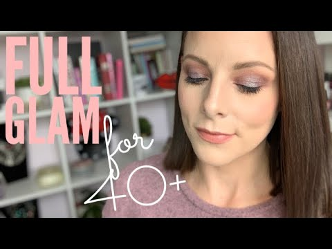 FULL GLAM MAKEUP LOOK FOR 40+ | Metallic Smoky eye & Nude Lip | Fenty Beauty Galaxy Palette