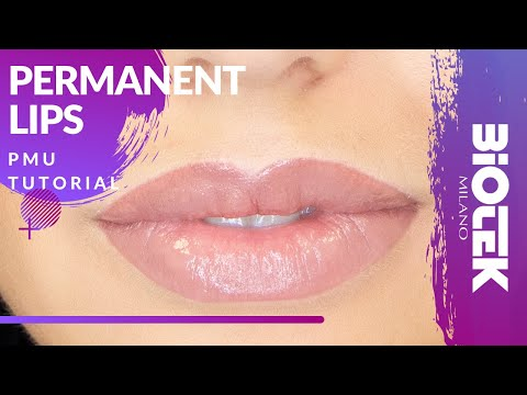 PERMANENT LIPS MAKE-UP TUTORIAL | Biotek Permanent Makeup
