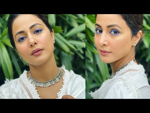 HINA KHAN INSPIRED MAKEUP LOOK❤|| Blue Eyes ||OwnStyle – Shree