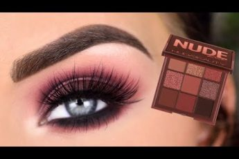 Huda Beauty Nude RICH Obsessions Eyeshadow Palette | Smokey Eye Makeup Tutorial