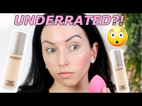 FLAWLESS SERUM FOUNDATION?! Juice Beauty Phyto Pigments! {First Impression Review & Demo!}