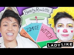 We Tried Doing An Extreme Halloween Makeup Look In 5 Minutes • Beauty Roulette • Ladylike