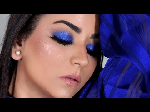 Quick & Easy Cobalt Blue Smokey Eye Makeup Tutorial