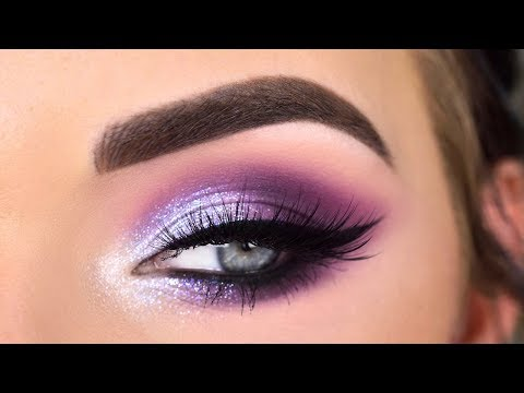 Huda Beauty Mercury Retrograde Palette | Purple Glitter Eye Makeup Tutorial
