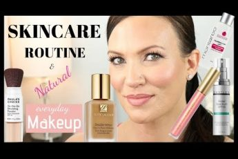 MORNING SKINCARE ROUTINE & NATURAL EVERYDAY MAKEUP TUTORIAL for MATURE SKIN, WRINKLES, MELASMA.