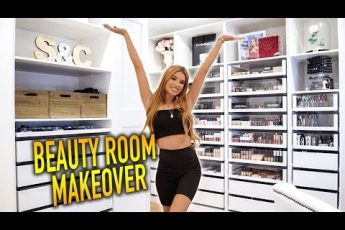 BEAUTY ROOM TRANSFORMATION + MAKEUP COLLECTION ORGANIZATION!