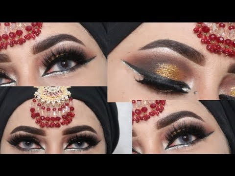 AFFORDABLE PAKISTANI BRIDAL EYES MAKEUP TUTORIAL _ zainab numan