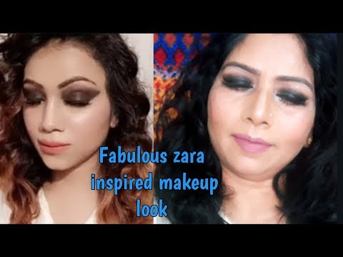 Fabulous Zara Inspired Makeup Look | Smokey eyes with Nude lipstick