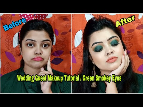 Wedding Guest Makeup Tutorial / Green Smokey Eyes 😘 Simply Pretty😘
