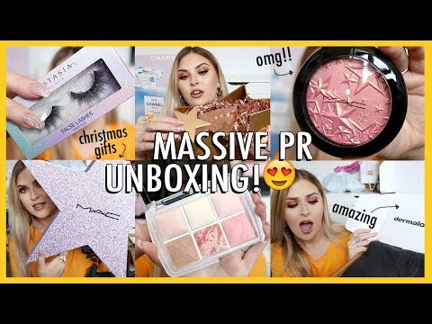 whats new in beauty?! 😍 PR HAUL ft makeup, clothing, xmas gifts & more!
