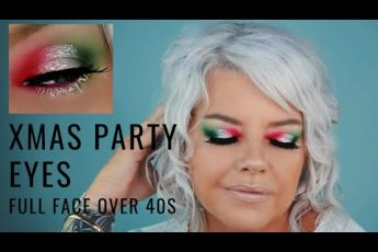 Full Face Christmas Party Makeup Tutorial Morphe James Charles Palette Over 40s nicqui madden