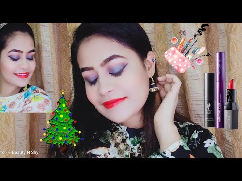 PARTY MAKEUP EASY GLITTER SMOKY EYES LOOK BY ||BEAUTY N SHY||