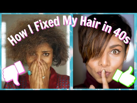 How I Fixed my DRY & THIN Hair in my 40s / Hair Mistakes That Make You Look Older/GIVEAWAY