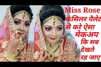 Bridal makeup tutorial with moon cut eyes makeup step by step in hindi||कम से कम बजट मे मेकअप