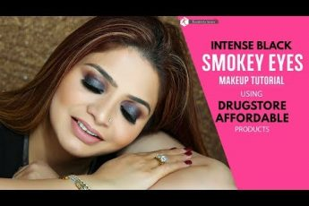 How To Do Smokey Eyes | Intense Black Smokey Eyes Makeup Tutorial | Drugstore Affordable Products