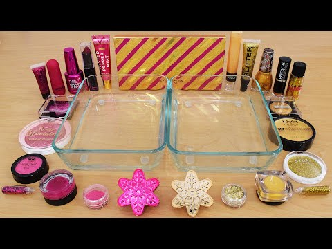 Rose vs Gold – Mixing Makeup Eyeshadow Into Slime ASMR 272 Satisfying Slime Video