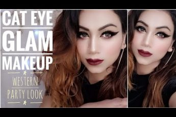 Cat Eye Glam Makeup || Western Party Look || Christmas Party Makeup || Fabulous Zara