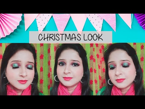 Christmas Makeup Look/ Halo Eyes Makeup Tutorial