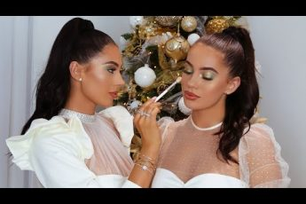MY TWIN DOES MY MAKEUP!! GREEN & GOLD SULTRY EYES