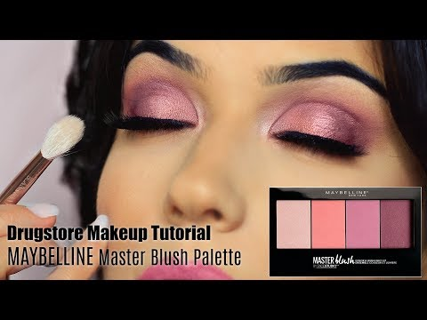 Drugstore Makeup Tutorial | Blush Palette Eye + Face & Lips | TheMakeupChair