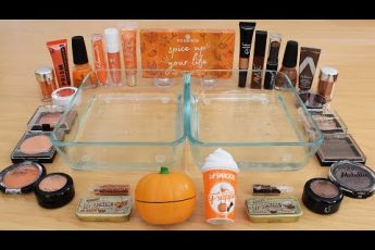 Pumpkin Spice Latte  – Mixing Makeup Eyeshadow Into Slime ASMR 252 Satisfying Slime Video
