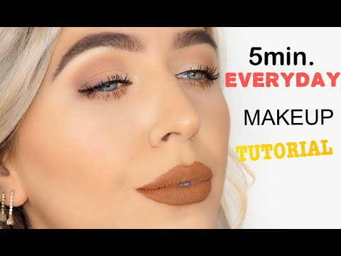 5MIN. EVERYDAY MAKEUP TUTORIAL | HOODED EYES | Natural makeup