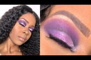 Purple Smokey Eye Cut Crease for Brown Skin || Hooded Eyes || Makeup for Black Women || Morphe 35V