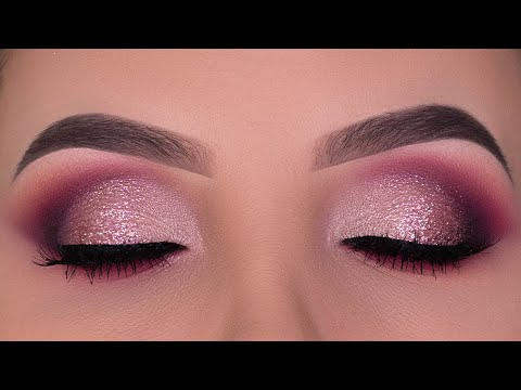 Rose Gold Glitter Eye Makeup Tutorial | Tati Beauty Palette
