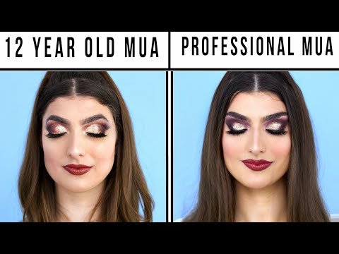 12 Year Old Makeup Artist Vs. Professional Makeup Artist