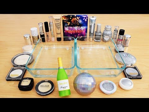 Champagne vs Holo  – Mixing Makeup Eyeshadow Into Slime ASMR 279 Satisfying Slime Video