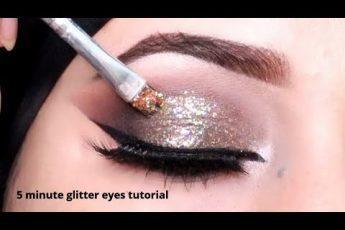 5 MINUTE Glitter Smokey Eyes Tutorial for #shadiseason // Asan Eyes Makeup Krny ka Tarika