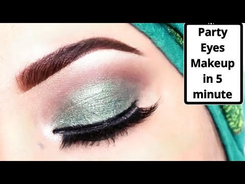 5 Minute Most Easy Party Eye Makeup Tutorial Using Only Two Eye Shadow //Makeup For Begginers