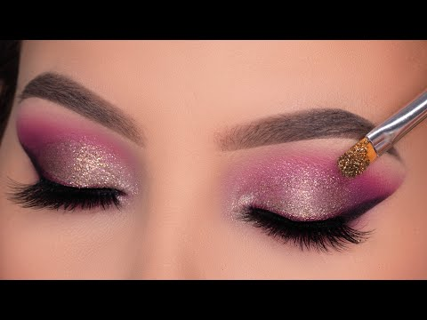 SPARKLY Soft Purple Eye Makeup Tutorial | Soft Glam