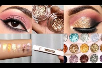 Barat/Waleema glittery eyes makeup look // Testing miss rose new products// Affordable glitters