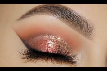 CLASSIC BROWN GLITTER EYE MAKEUP TUTORIAL