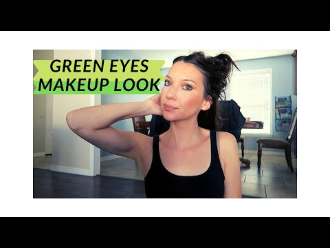 GREEN EYESHADOW MAKEUP LOOK| GREEN EYES| TIFFSORRELL