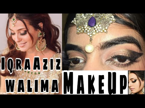 IQRA AZIZ WEDDING Barat/Walima MAKEUP Tutorial || BRIDAL MAKEUP TUTORIAL || Easy EYE MAKEUP TUTORIAL