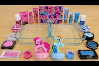 Pink vs Blue – Mixing Makeup Eyeshadow Into Slime Special Series 162 Satisfying Slime Video